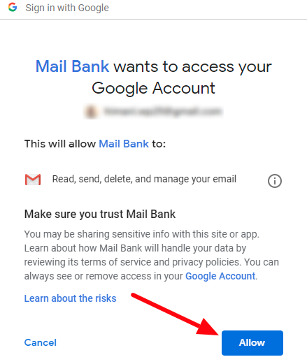 gmail oauth allow permission
