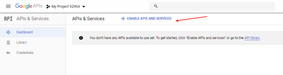 Gmail OAuth API Services Enable