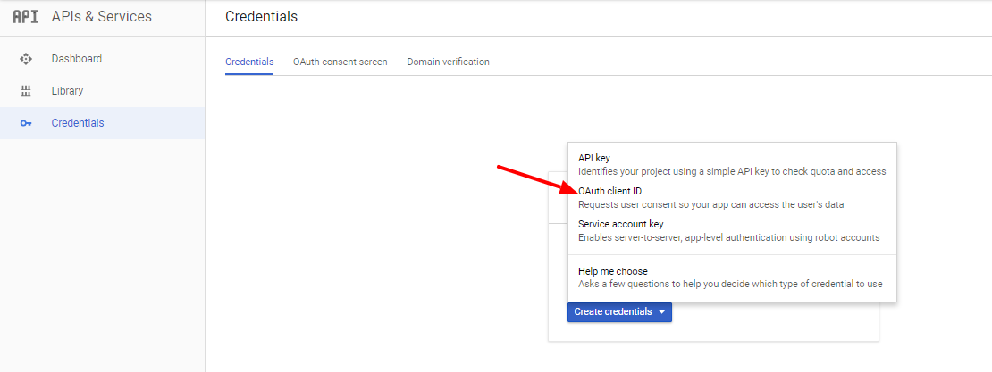 Gmail OAuth Choose OAuth Client ID
