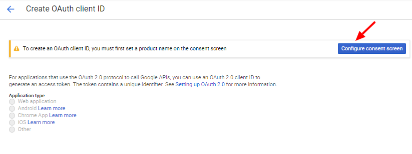 Gmail OAuth Configure Consent Screen