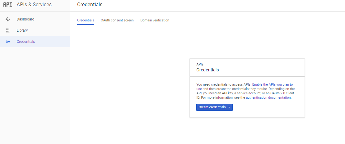 gmail oauth create credentials