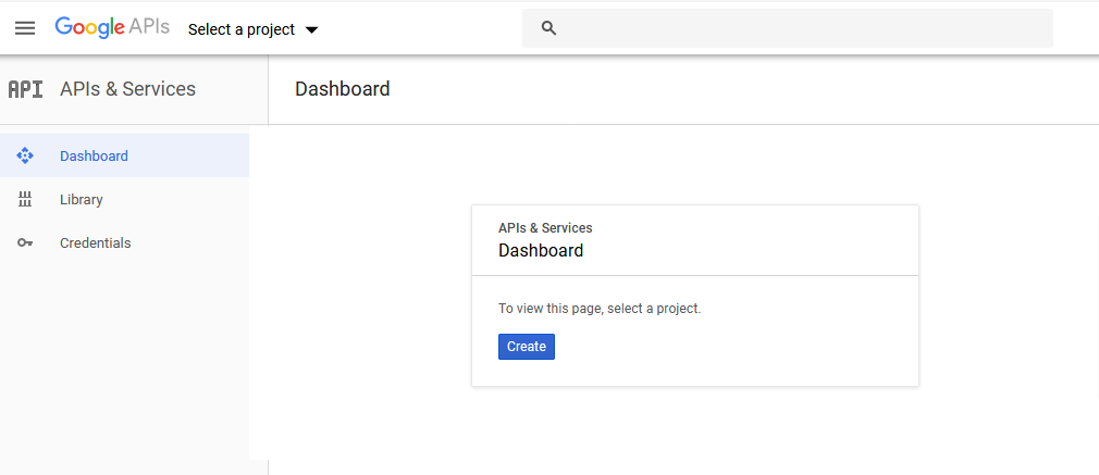 gmail oauth create project