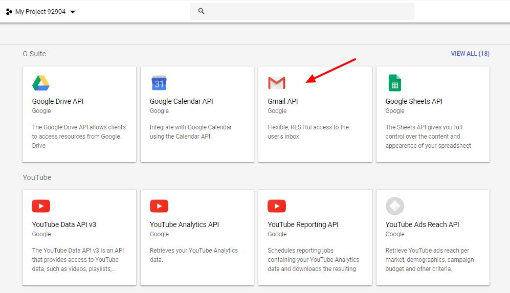 Gmail OAuth Gmail API