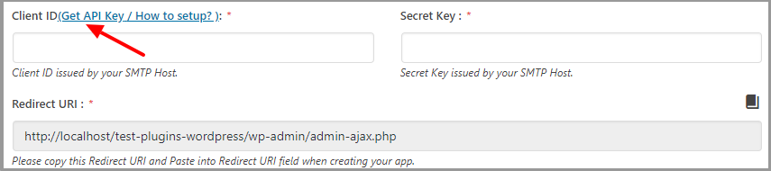 wp mail bank office 365 get client id secret key