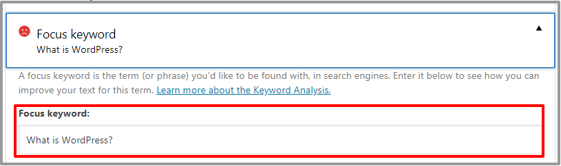 Add Keyword In Category