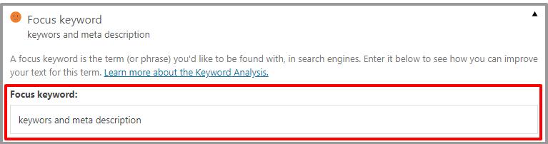 Add Meta Keyword