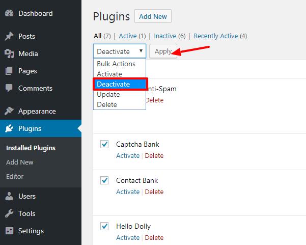 Deactivate All Plugins In Permalinks