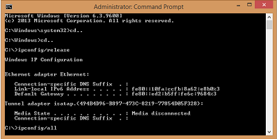 how to fix err empty response command prompt