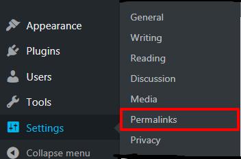 Not Working Permalinks Option In Settings