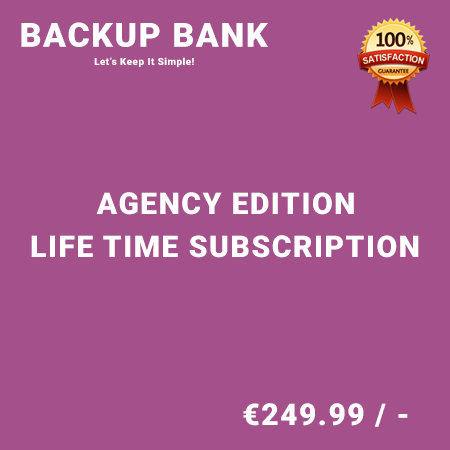 Backup Bank Agency Edition – Life Time Purchase