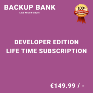 Backup Bank Developer Edition – Life Time Purchase