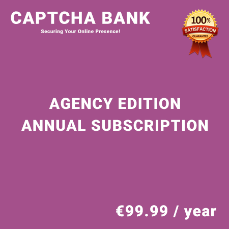 Captcha Bank Agency Edition - Annual Subscription