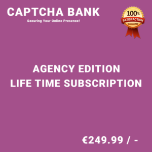 Captcha Bank Agency Edition – Life Time Purchase