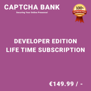 Captcha Bank Developer Edition – Life Time Purchase