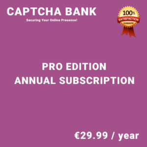 Captcha Bank Pro Edition - Annual Subscription