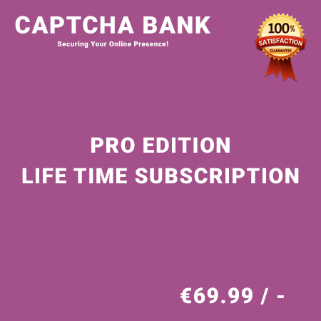 Captcha Bank Pro Edition – Life Time Purchase