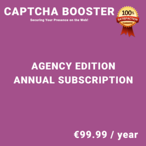 Captcha Booster Agency Edition – Annual Subscription