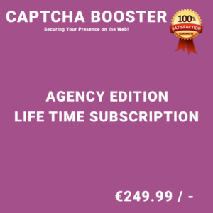 Captcha Booster Agency Edition – Life Time Purchase