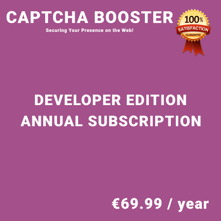 Captcha Booster Developer Edition – Annual Subscription