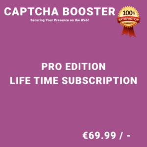 Captcha Booster Pro Edition – Life Time Purchase