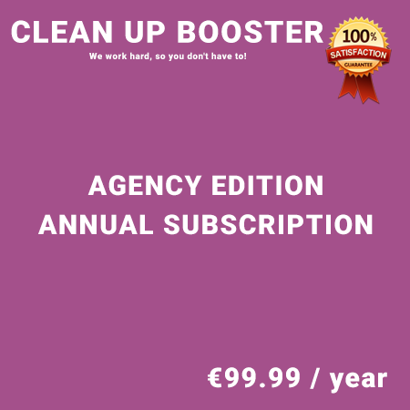 Clean Up Booster Agency Edition - Annual Subscription
