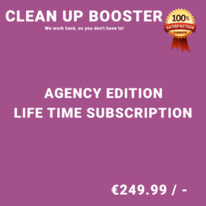 Clean Up Booster Agency Edition - Life Time Purchase