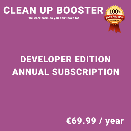 Clean Up Booster Developer Edition - Annual Subscription