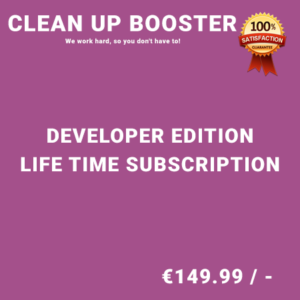 Clean Up Booster Developer Edition - Life Time Purchase