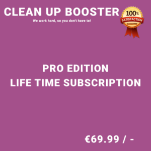 Clean Up Booster Pro Edition - Life Time Purchase