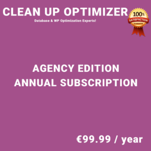 Clean Up Optimizer Agency Edition - Annual Subscription
