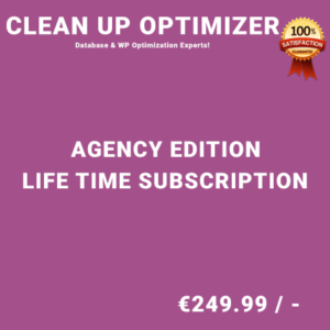 Clean Up Optimizer Agency Edition - Life Time Purchase
