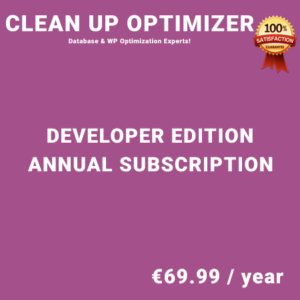Clean Up Optimizer Developer Edition - Annual Subscription