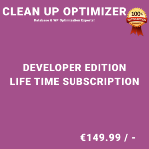 Clean Up Optimizer Developer Edition - Life Time Purchase