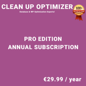 Clean Up Optimizer Pro Edition - Annual Subscription
