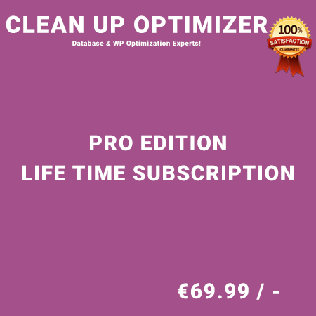 Clean Up Optimizer Pro Edition - Life Time Purchase