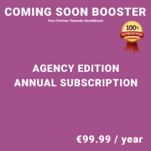 Coming Soon Booster Agency Edition - Annual Subscription