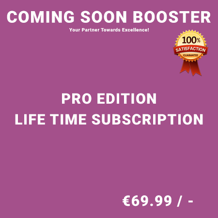 Coming Soon Booster Pro Edition - Life Time Purchase