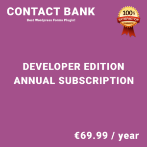 Contact Bank Developer Edition - Annual Subscription