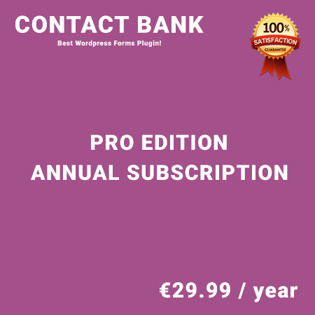 Contact Bank Pro Edition – Annual Subscription