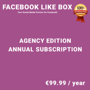 Facebook Like Box Agency Edition - Annual Subscription