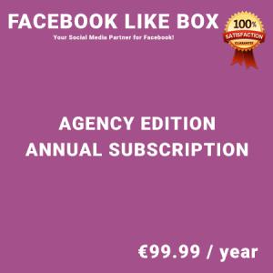 Facebook Like Box Agency Edition - Annual Subscription