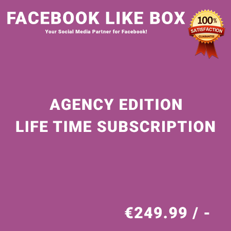Facebook Like Box Agency Edition – Life Time Purchase