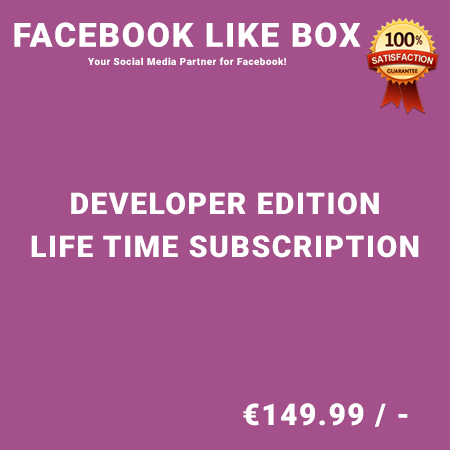 Facebook Like Box Developer Edition – Life Time Purchase