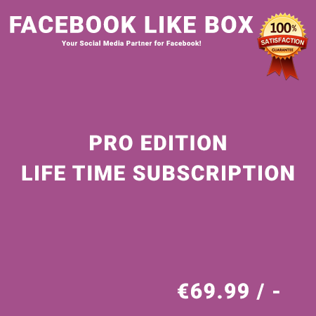 Facebook Like Box Pro Edition – Life Time Purchase