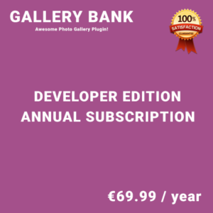 Gallery Bank Developer Edition - Annual Subscription