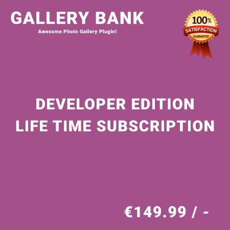 Gallery Bank Developer Edition - Life Time Purchase