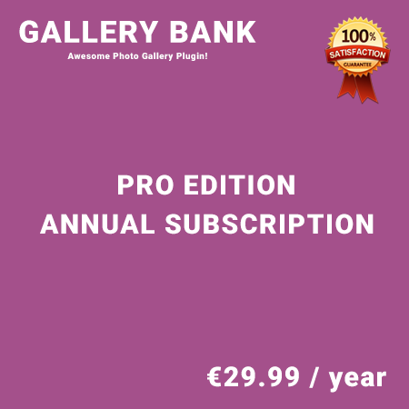Gallery Bank Pro Edition – Annual Subscription