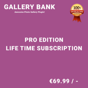 Gallery Bank Pro Edition – Life Time Purchase