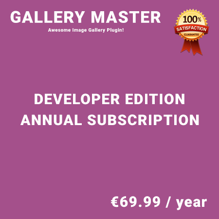 Gallery Master Developer Edition - Annual Subscription