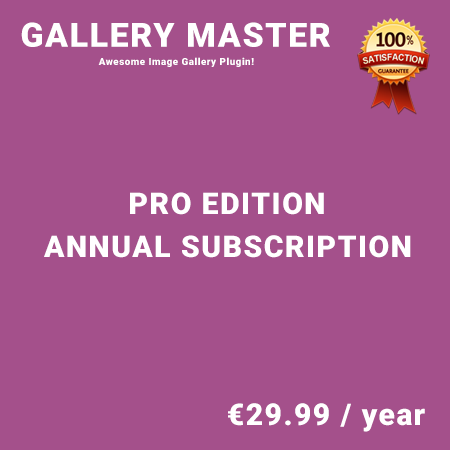 Gallery Master Pro Edition - Annual Subscription
